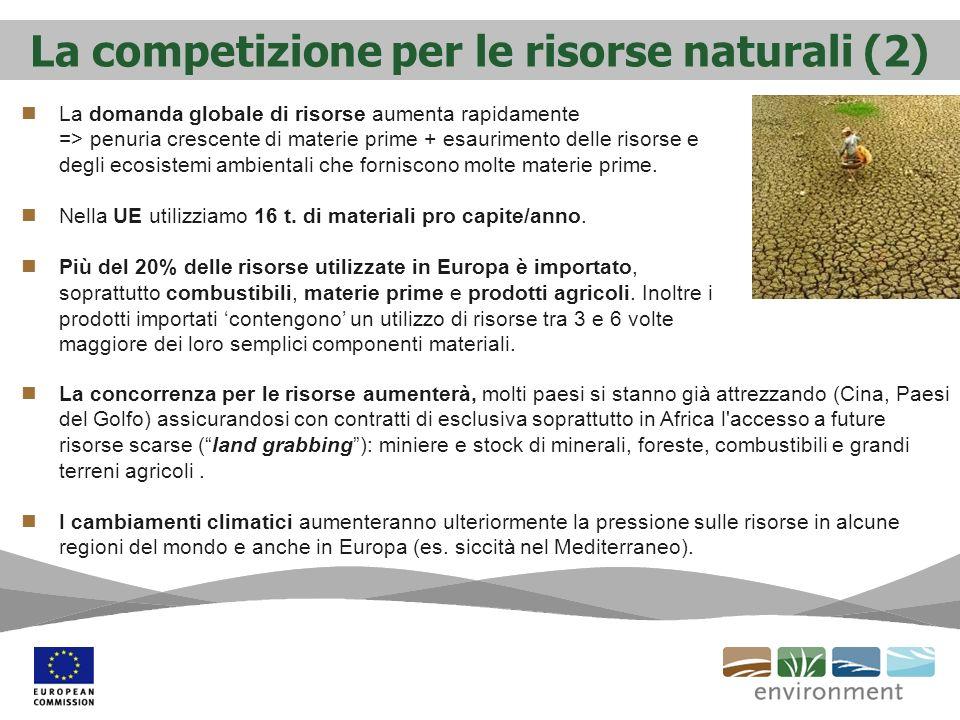 La competizione per le risorse naturali (2)