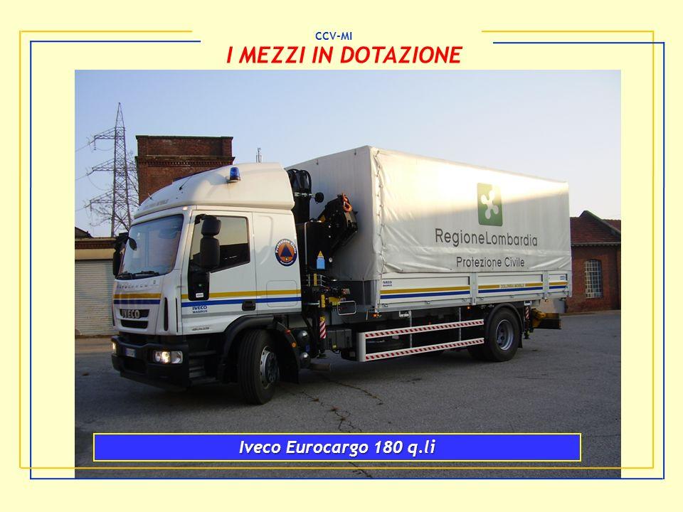 CCV-MI I MEZZI IN DOTAZIONE Iveco Eurocargo 180 q.li