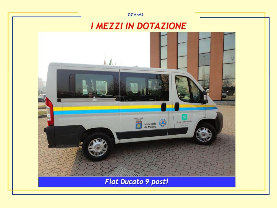 CCV-MI I MEZZI IN DOTAZIONE Fiat Ducato 9 posti