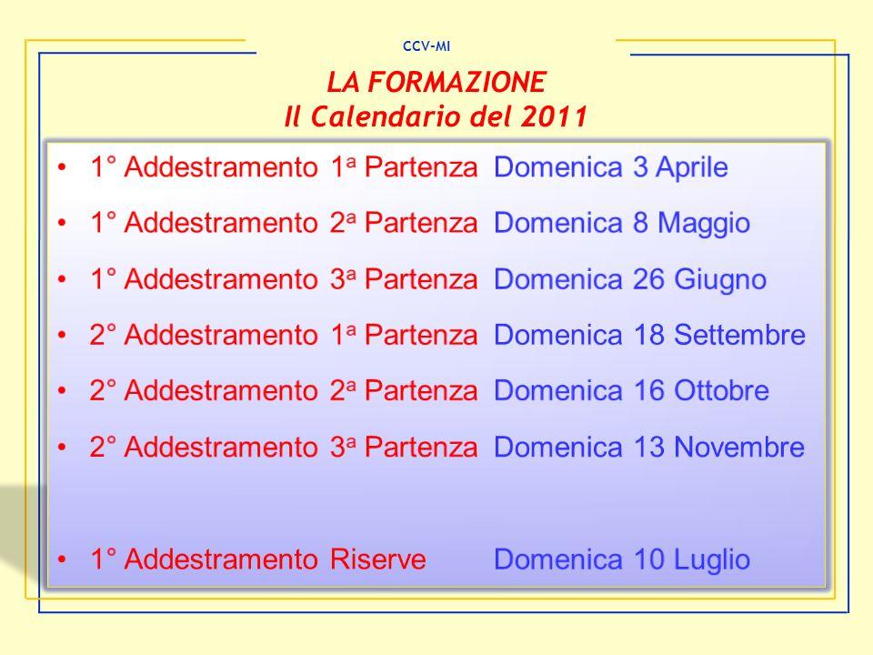 LA FORMAZIONE Il Calendario del 2011