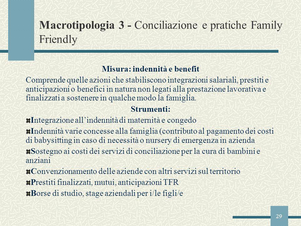 Macrotipologia 3 - Conciliazione e pratiche Family Friendly