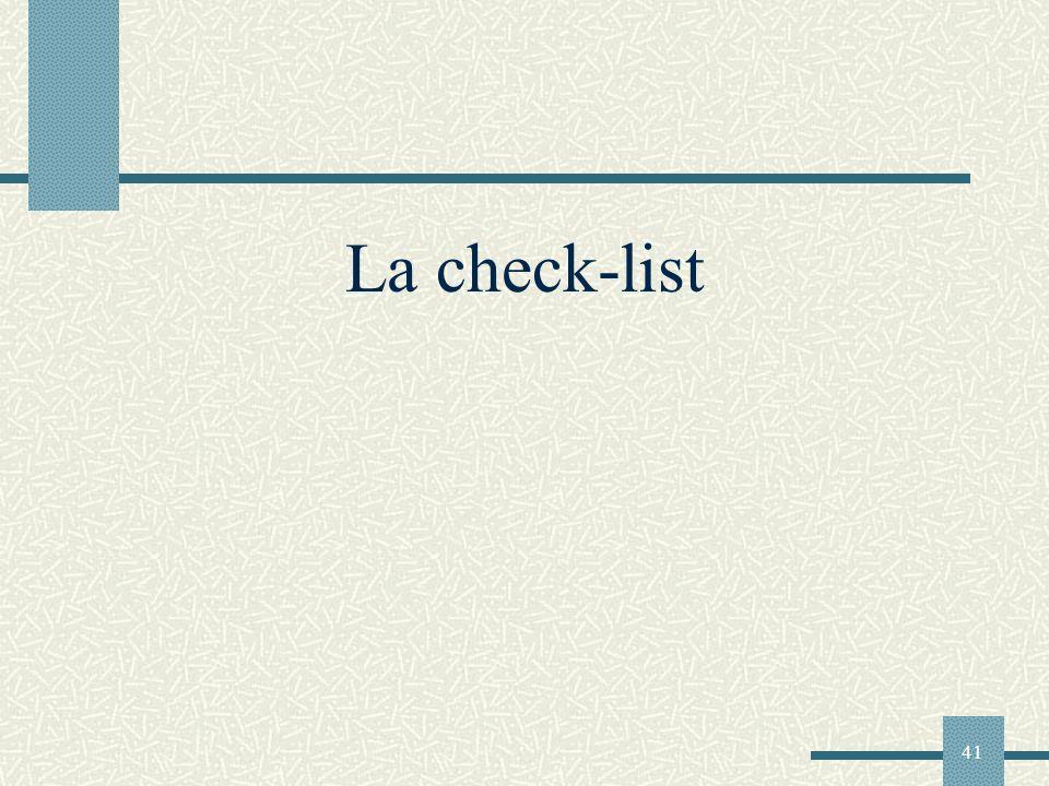 La check-list