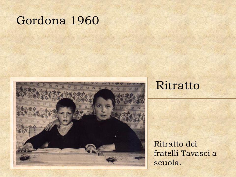 Gordona 1960 Ritratto Ritratto dei fratelli Tavasci a scuola.