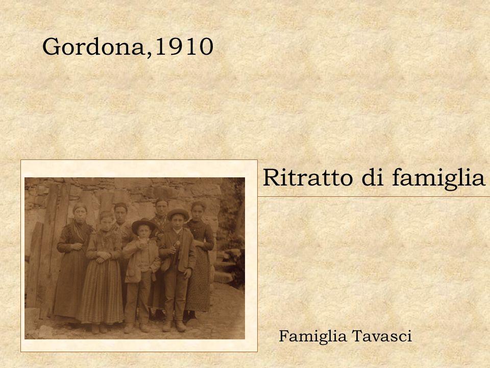 Gordona,1910 Ritratto di famiglia Famiglia Tavasci