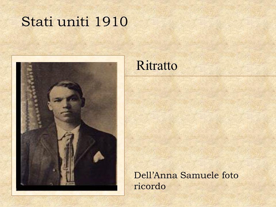 Stati uniti 1910 Ritratto Dell'Anna Samuele foto ricordo