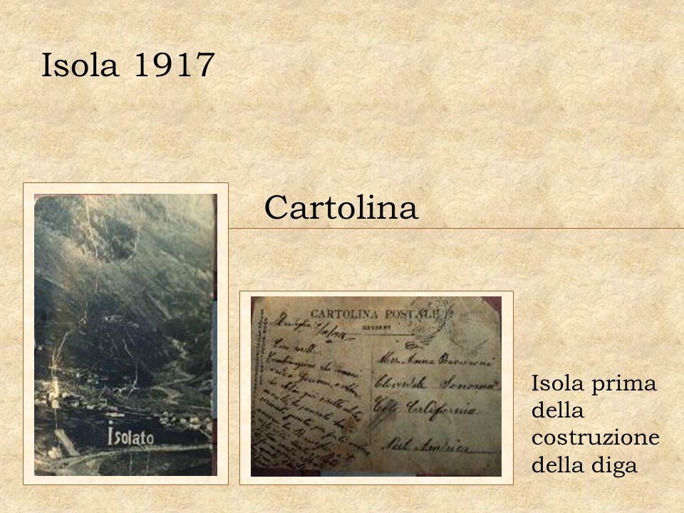 Isola 1917 Cartolina Isola prima della costruzione della diga
