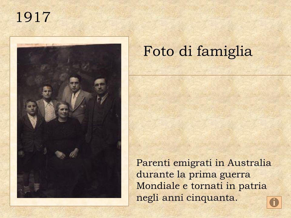1917 Foto di famiglia Parenti emigrati in Australia