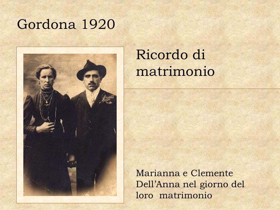 Gordona 1920 Ricordo di matrimonio