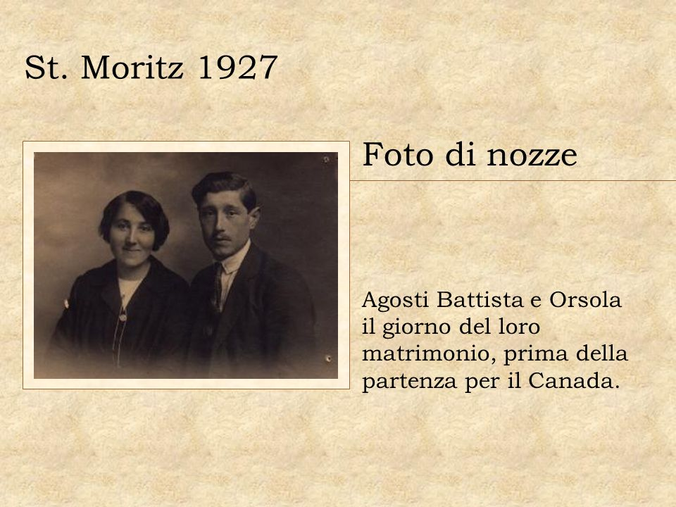 St. Moritz 1927 Foto di nozze.