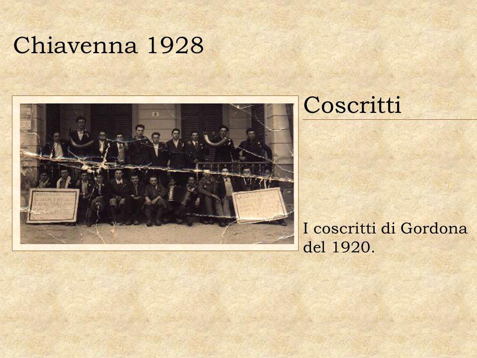 Chiavenna 1928 Coscritti I coscritti di Gordona del 1920.