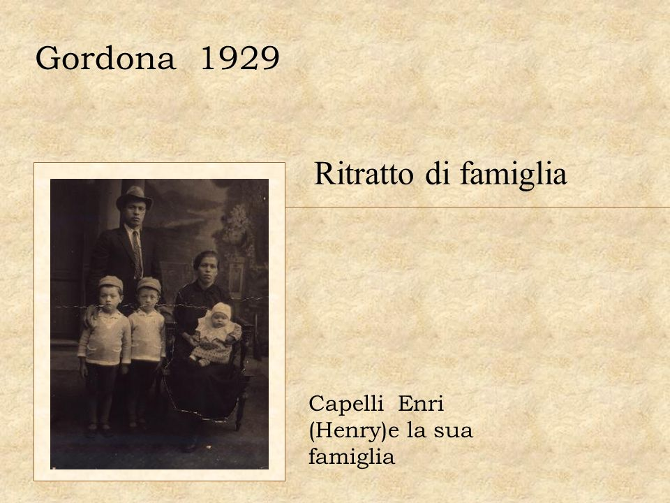 Gordona 1929 Ritratto di famiglia