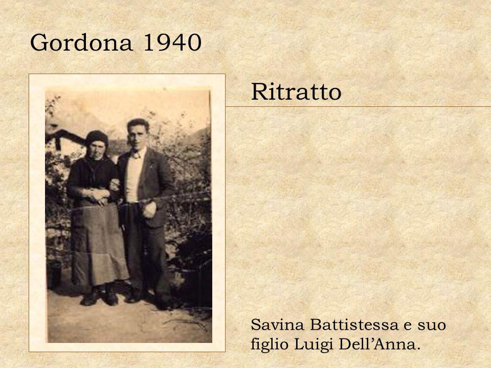 Gordona 1940 Ritratto Savina Battistessa e suo figlio Luigi Dell'Anna.
