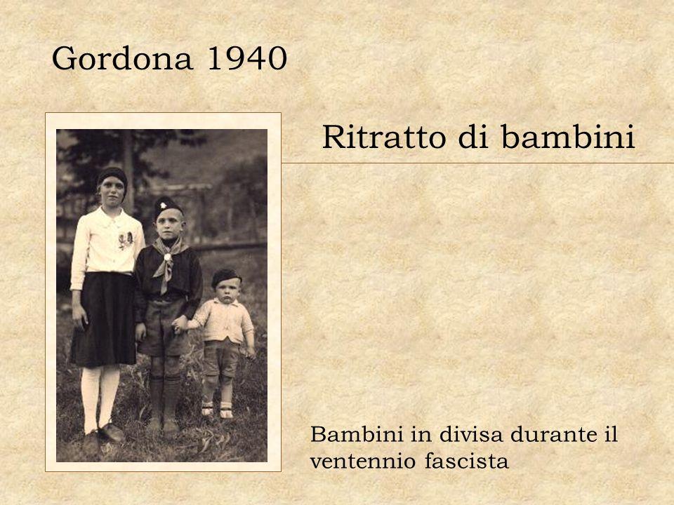 Gordona 1940 Ritratto di bambini