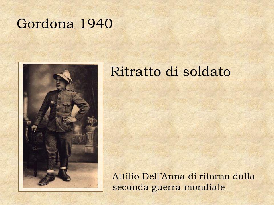 Gordona 1940 Ritratto di soldato