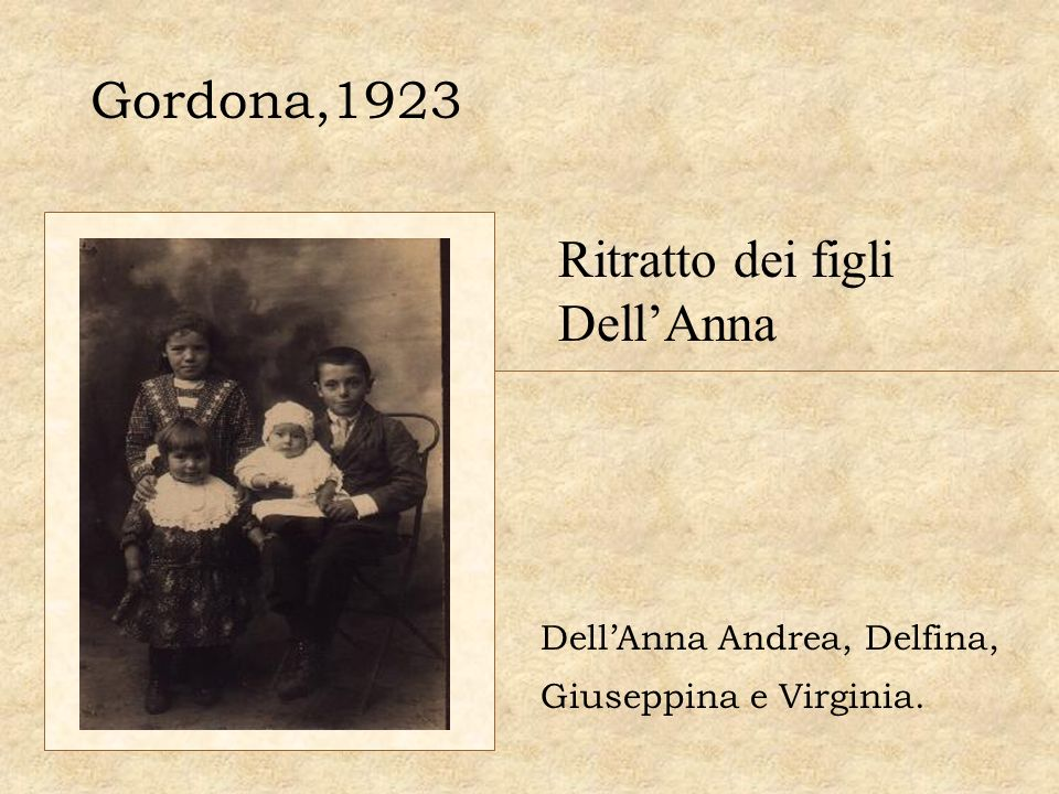 Ritratto dei figli Dell'Anna