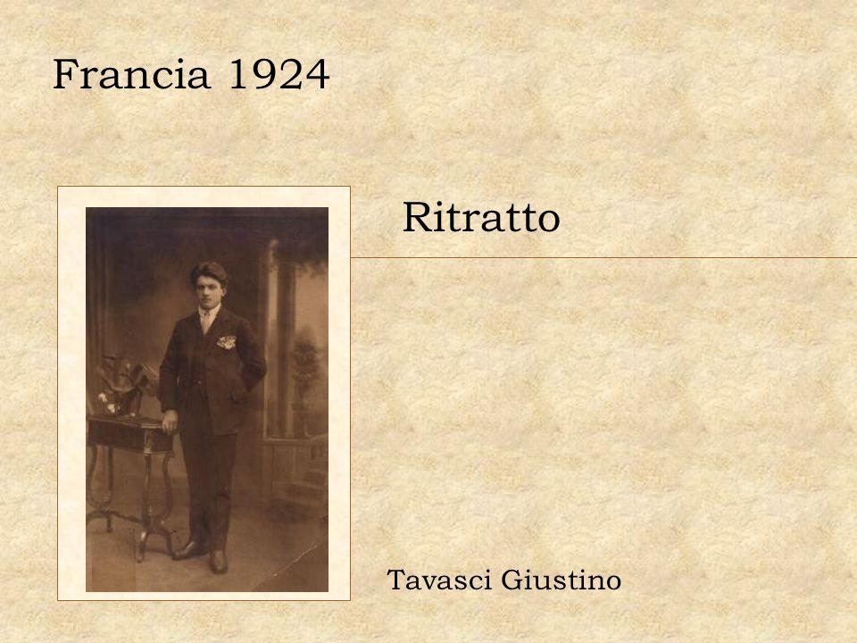 Francia 1924 Ritratto Tavasci Giustino