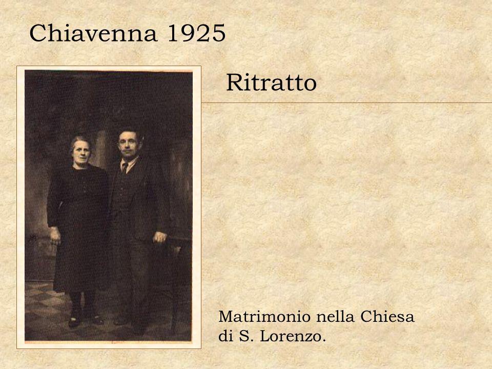 Chiavenna 1925 Ritratto Matrimonio nella Chiesa di S. Lorenzo.
