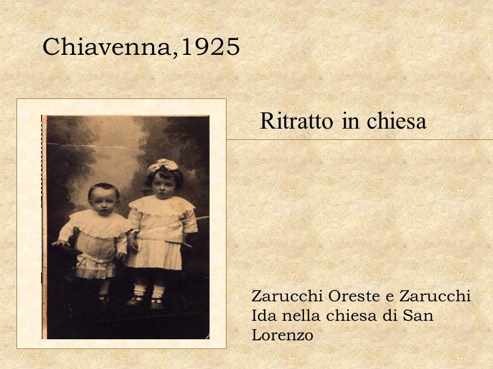 Chiavenna,1925 Ritratto in chiesa