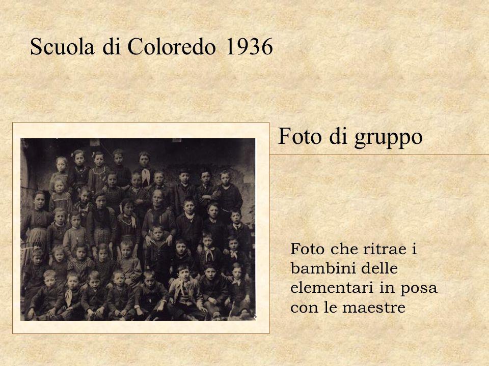 Scuola di Coloredo 1936 Foto di gruppo