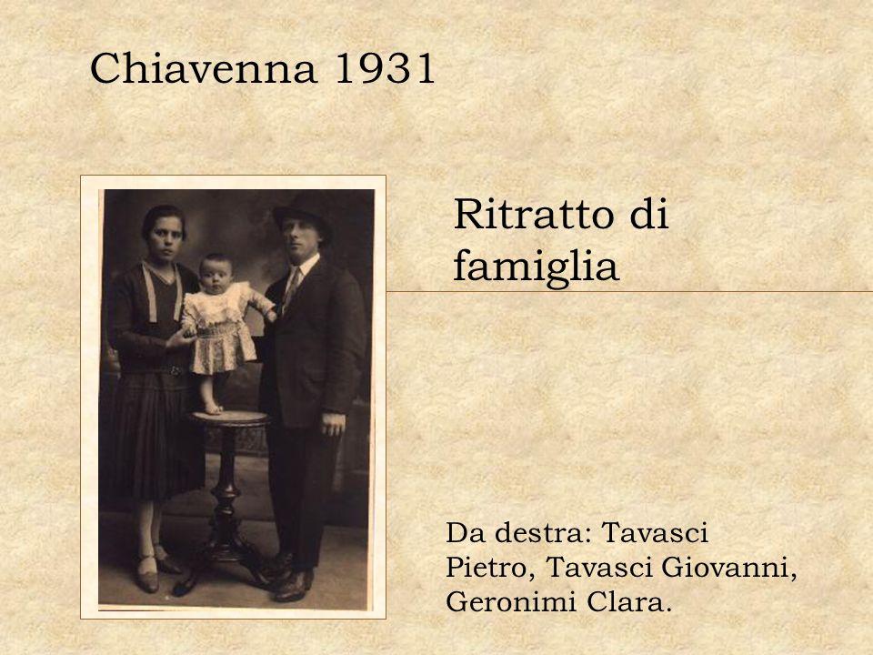 Chiavenna 1931 Ritratto di famiglia