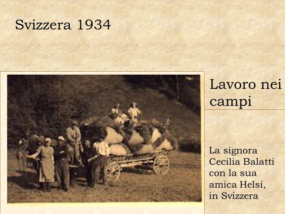 Svizzera 1934 Lavoro nei campi