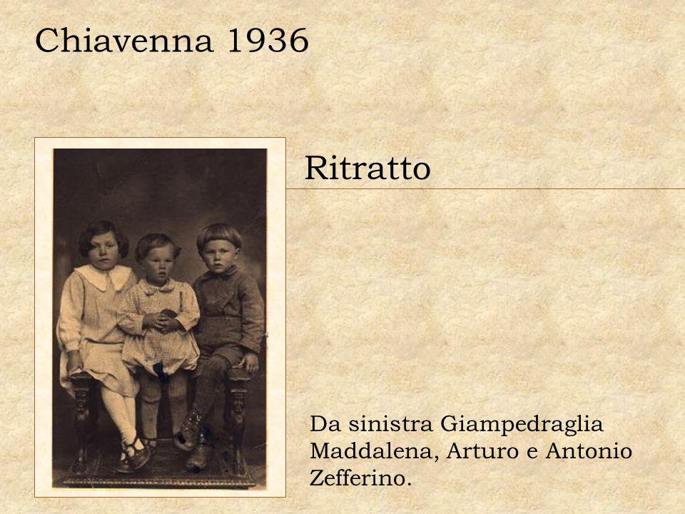 Chiavenna 1936 Ritratto Da sinistra Giampedraglia Maddalena, Arturo e Antonio Zefferino.