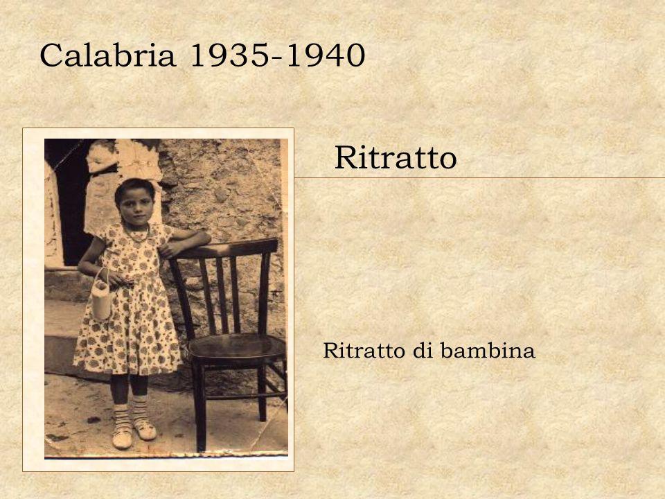 Calabria 1935-1940 Ritratto Ritratto di bambina