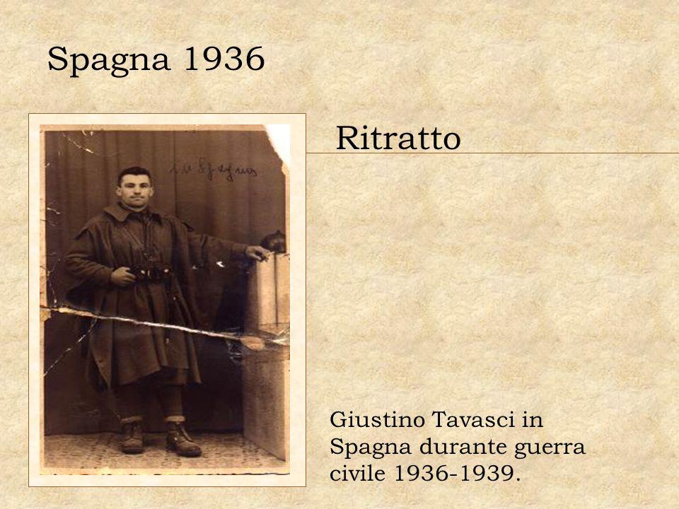 Spagna 1936 Ritratto Giustino Tavasci in Spagna durante guerra civile 1936-1939.
