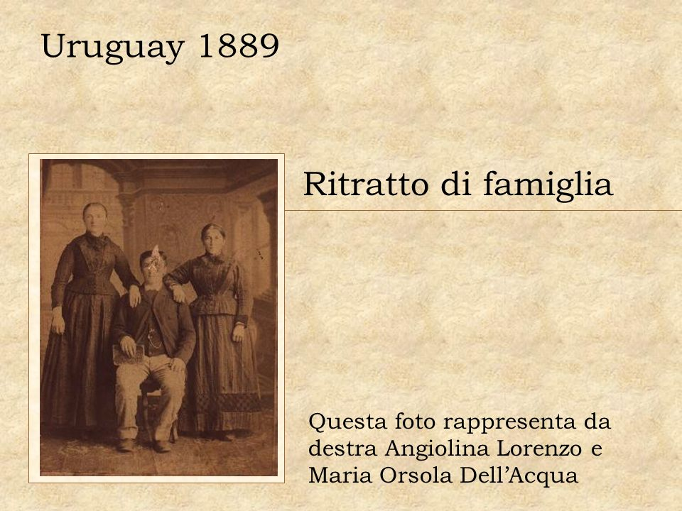Uruguay 1889 Ritratto di famiglia Questa foto rappresenta da