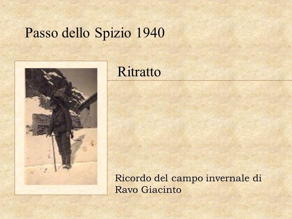 Passo dello Spizio 1940 Ritratto