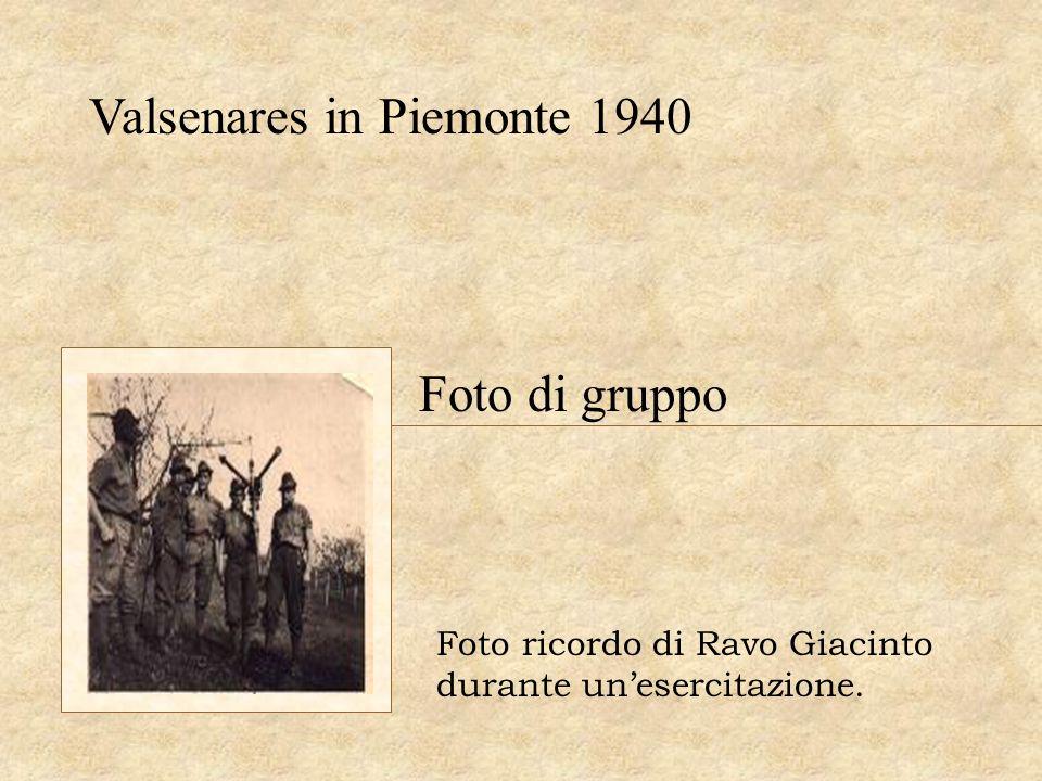 Valsenares in Piemonte 1940