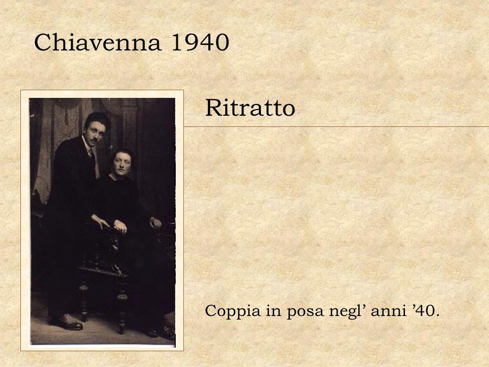 Chiavenna 1940 Ritratto Coppia in posa negl' anni '40.