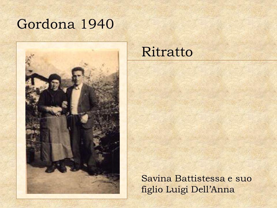 Gordona 1940 Ritratto Savina Battistessa e suo figlio Luigi Dell'Anna
