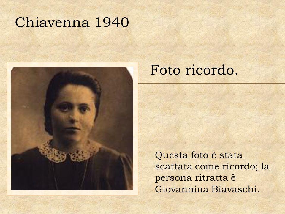 Chiavenna 1940 Foto ricordo.