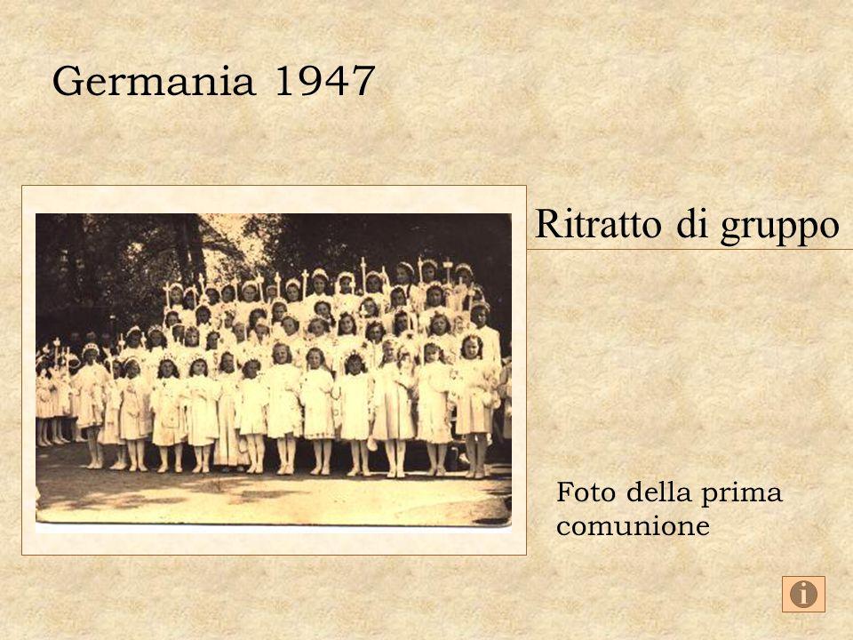 Germania 1947 Ritratto di gruppo Foto della prima comunione