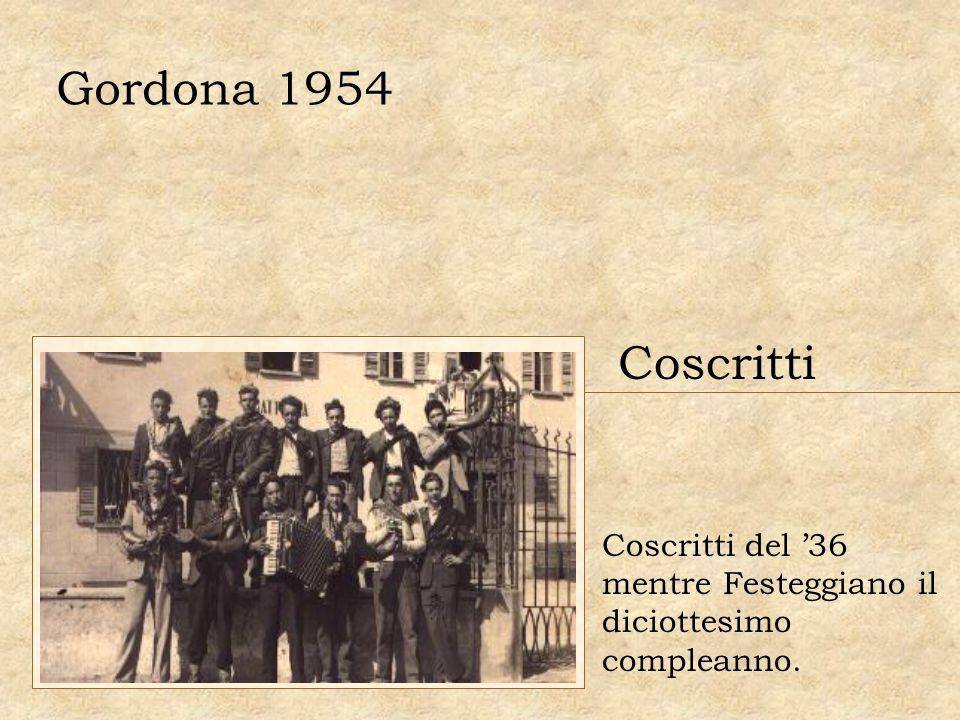 Gordona 1954 Coscritti Coscritti del '36