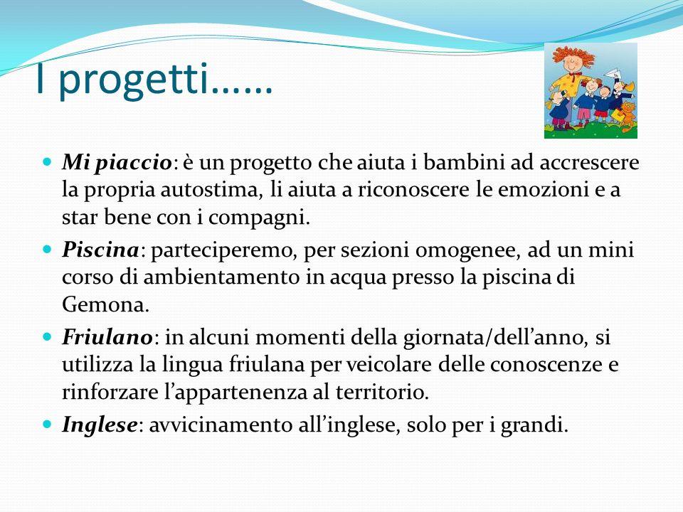 I progetti……