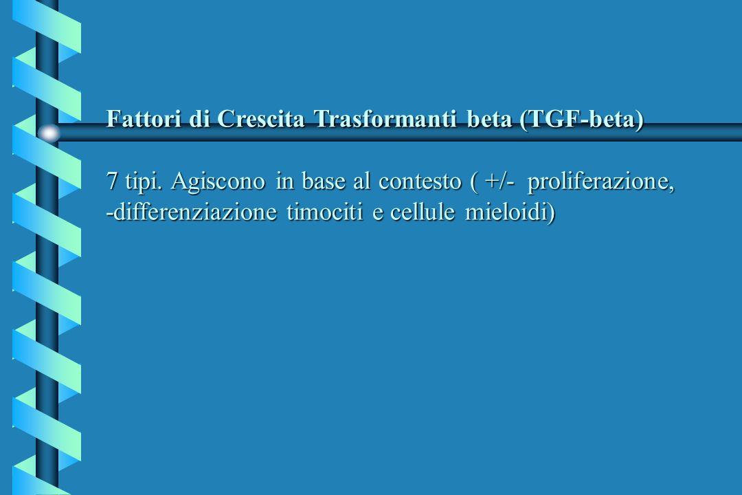 Fattori di Crescita Trasformanti beta (TGF-beta) 7 tipi