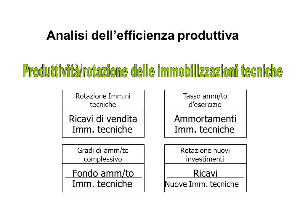 Analisi dell'efficienza produttiva