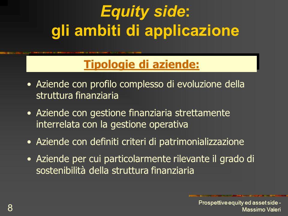 Equity side: gli ambiti di applicazione