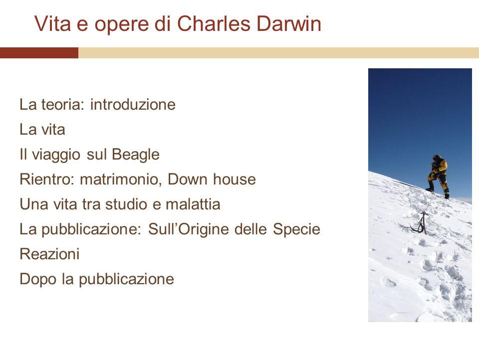 Vita e opere di Charles Darwin