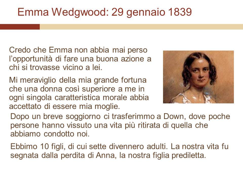 Emma Wedgwood: 29 gennaio 1839