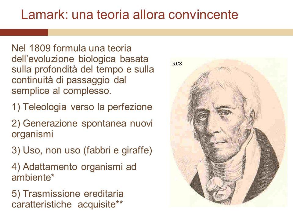 Lamark: una teoria allora convincente