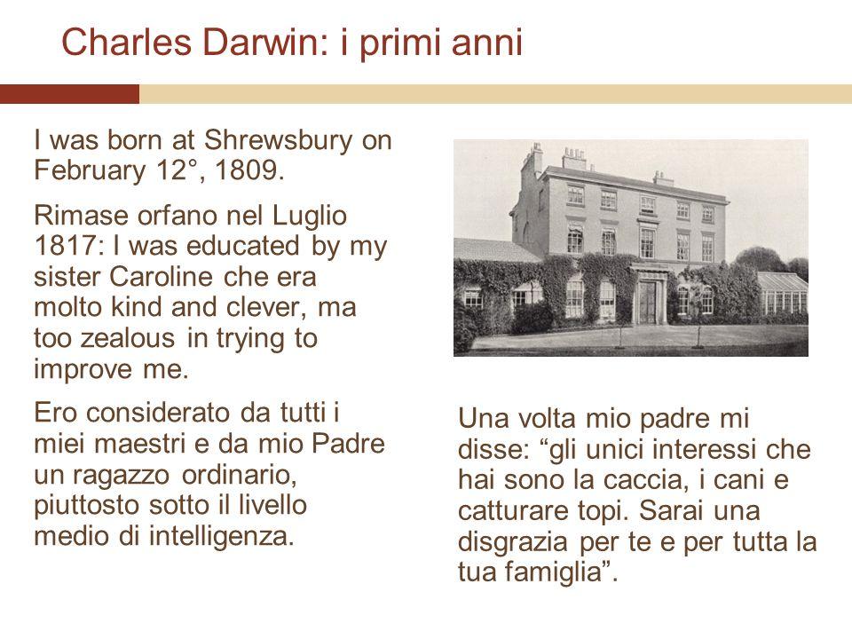 Charles Darwin: i primi anni