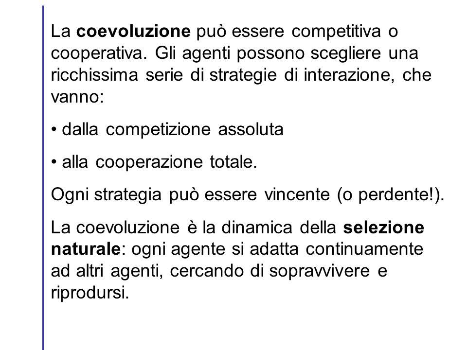 La coevoluzione può essere competitiva o cooperativa