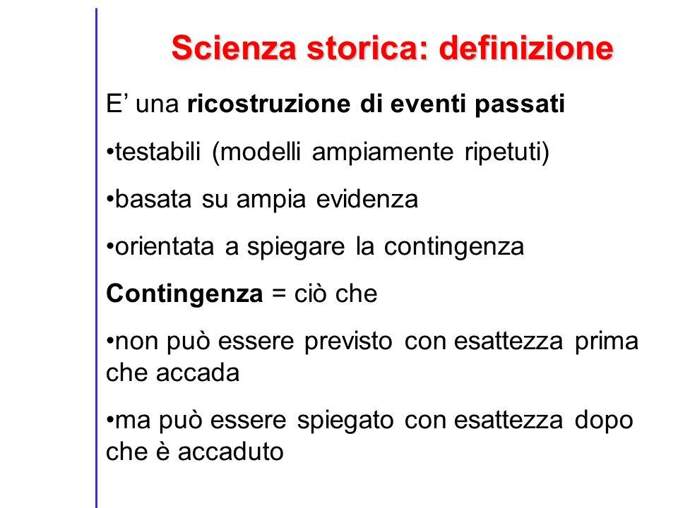 Scienza storica: definizione