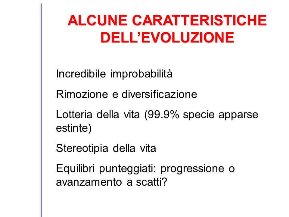 ALCUNE CARATTERISTICHE DELL'EVOLUZIONE