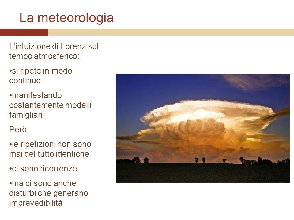 La meteorologia L'intuizione di Lorenz sul tempo atmosferico: