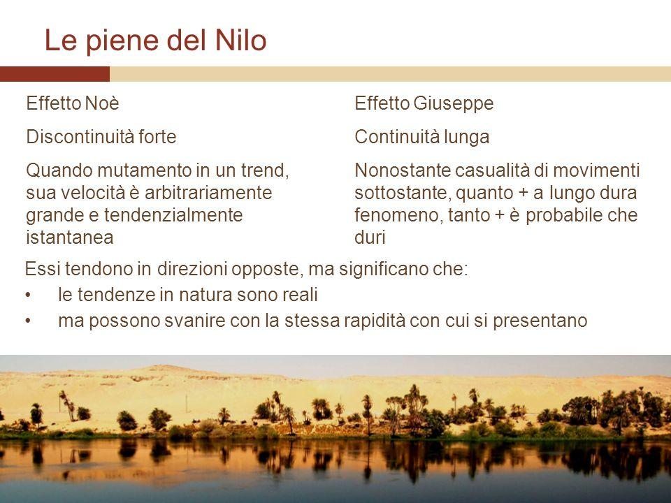 Le piene del Nilo Effetto Noè Discontinuità forte
