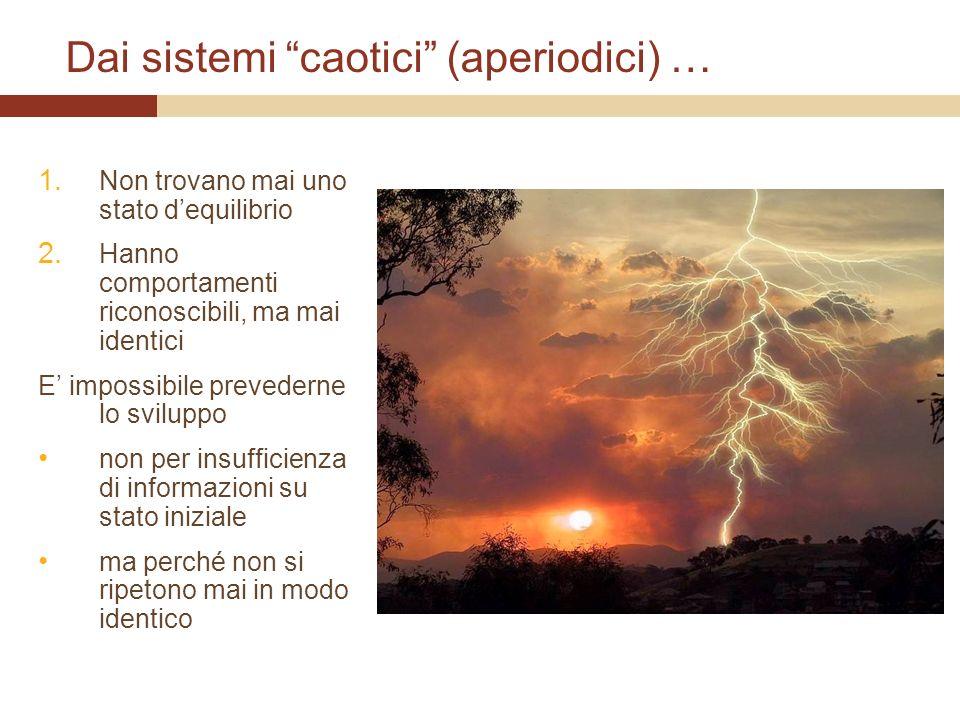 Dai sistemi caotici (aperiodici) …